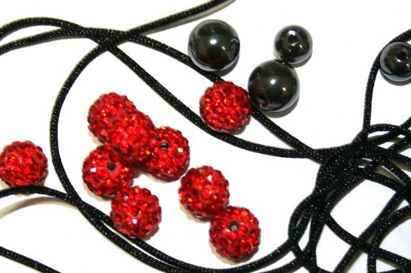 DIY Pave Crystal Bracelet Kit - Bright Red - SC